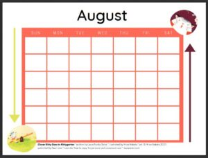 A Back to School Countdown calendar