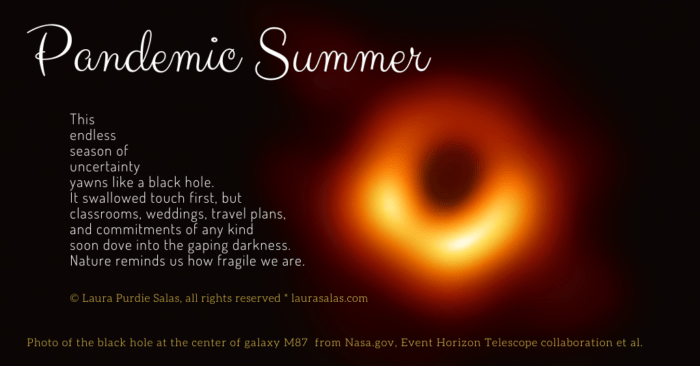 Pandemic Summer, an etheree poem