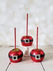 Santa Belt Caramel Apples