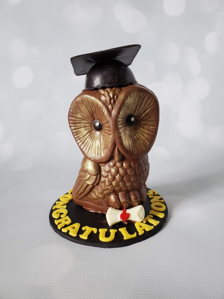 candy filled chocolate owl