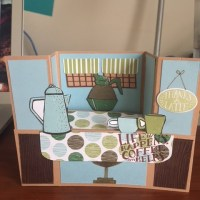 3D Bench Fold Café Card Tutorial