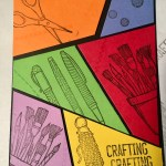 Rainbow panels placed for Crafty Comic Card