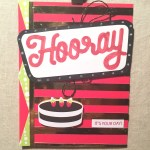 June 2018 Paper Pumpkin Broadway Star Alternative Card using leftovers as stencil