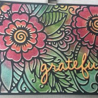 Bloomtangled (Cover Plate Die) and Grateful