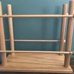 handmade wooden ribbon holder organization