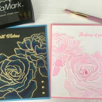 2 Embossing Techniques With the Same Folder!