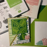 Tropical Chic Diagonal Fold Card Tutorial to create a piece of paradise