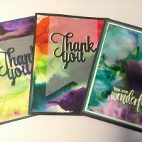 Creating and Blending with Watercolor Powders: How to Use Color Bursts to Make Bright Thank You Cards