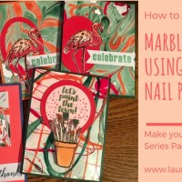 DIY Marble Paper with Nail Polish and Make Your Own Watercolor Designer Series Paper
