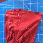 begin purse stitch