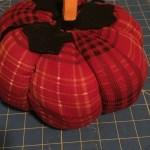 DIY plaid plush pumpkin