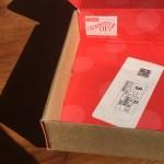 empty inside-out paper pumpkin box