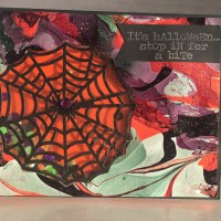 Spiderweb Shaker Card for Halloween