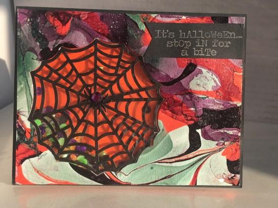Spiderweb Shaker Halloween Card