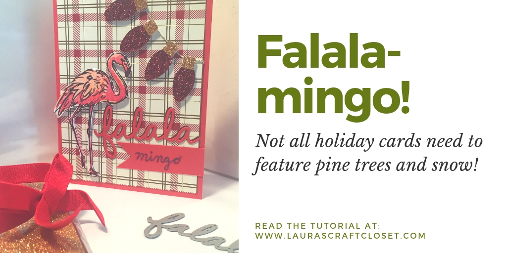 Falala-mingo! Holiday cards don't all need to have pine trees and wreaths!