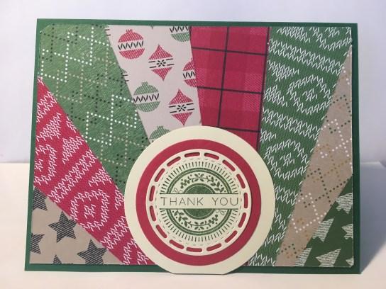 Snowburst Starburst christmas thank you card