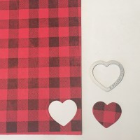 Buffalo Plaid Hearts! Background stamp technique!