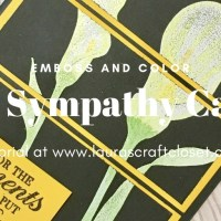 Lasting Lily Sympathy Card - Chalkboard Emboss and Color Technique