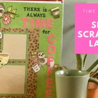 Lazy Sloth Scrapbook Layout