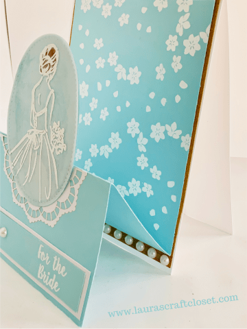 Double easel bridal shower detail