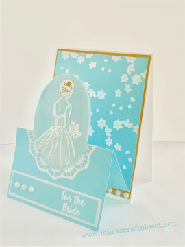 Double easel bridal shower card