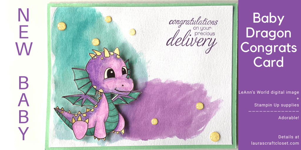 New Baby Dragon Congratulations Card