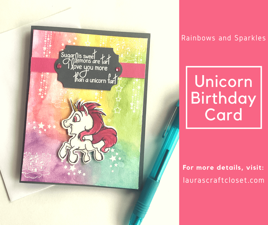 Rainbow Unicorn Card - full of sweetness and low on unicorn farts