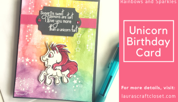 Unicorn Cake Card from Tropical Chic Die-Cuts! • Laura's