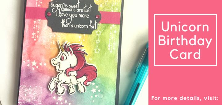 Unicorn birthday card fab