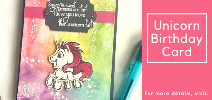 Unicorn birthday card fab