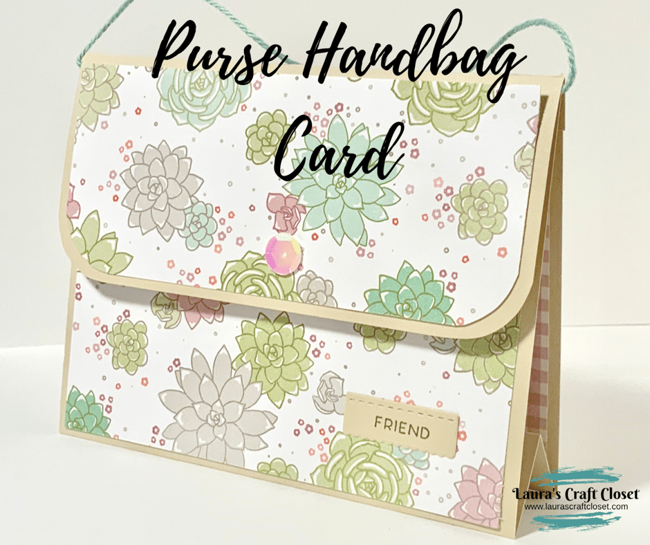 purse handbag succulent card