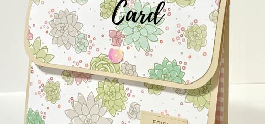 purse handbag succulent card