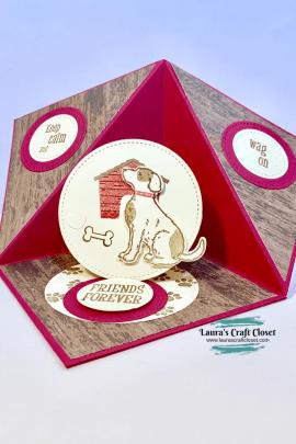 dog house triangle fold pop up card