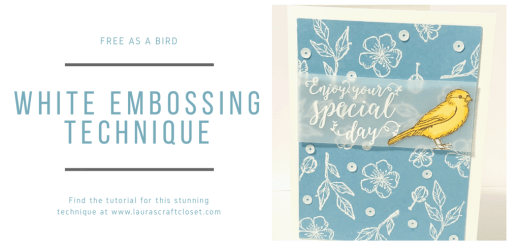 White embossing technique bird ballad twitter
