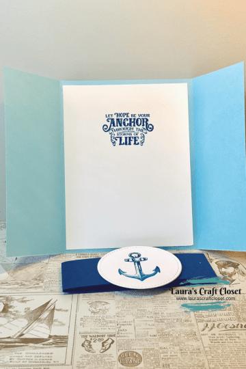 Nautical Gatefold Card inside
