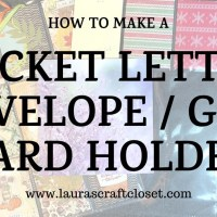 Pocket Letter Envelope / Gift Card Holder