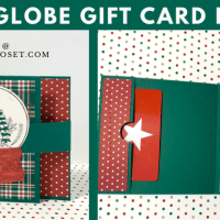 Snow Globe Gift Card Holder for Christmas Time
