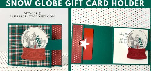 Snow globe gift card holder