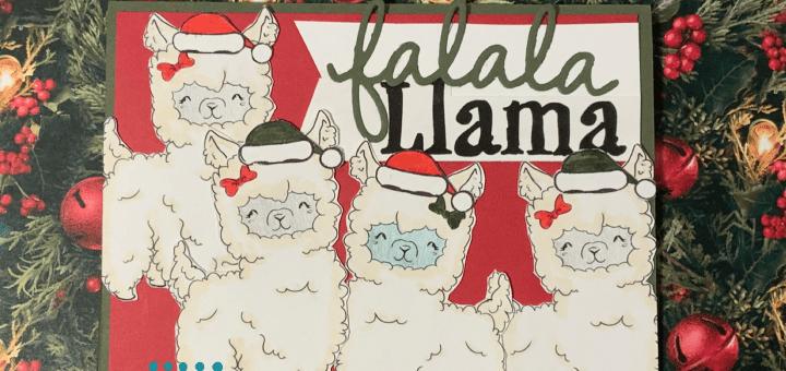 Falala llama christmas card oddball