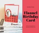 flannel birthday card for a boy