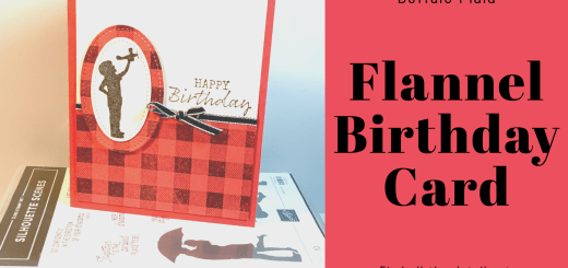 flannel birthday card for a boy