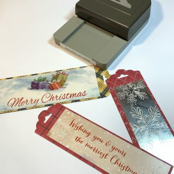DIY Bookmarks from holiday cards