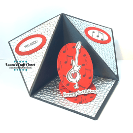 music tent fold card