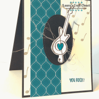 Rocking Guitar Music Card