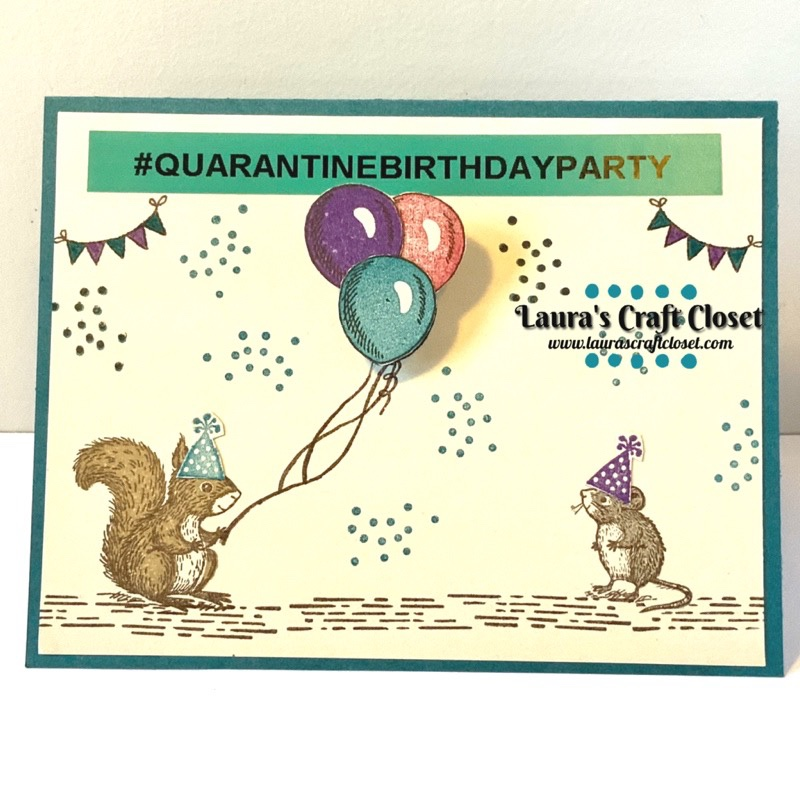 Quarantine kid birthday party card