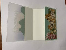 ornate garden vellum card open
