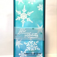 Watercolor Snowflake Slimline Card