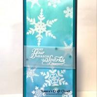 Watercolor Snowflake Slimline Card