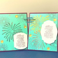 Firework Stencil Card : July Paper Pumpkin Alternatives