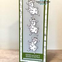 Dancing Goats Slimline Card